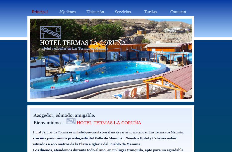 'Hotel Termas La Coruña - Mamiña - Chile' - www_termaslacoruña_cl