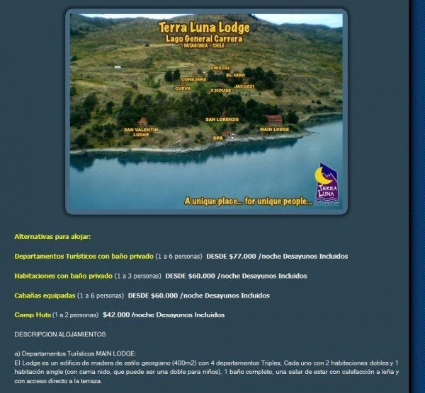Alternativas de Alojamiento I Excursion Turistica Terra Luna Patagonia - www_terra-luna_cl_Esp_alojamiento_html