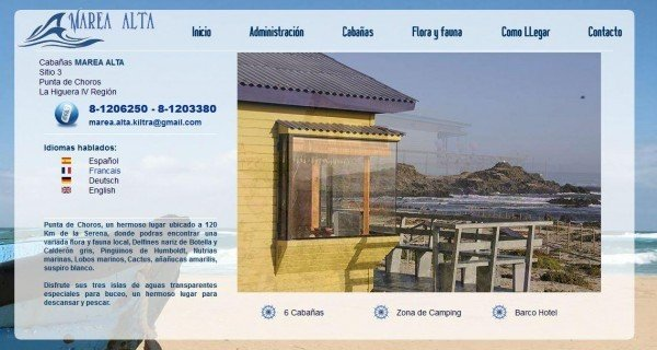 Cabañas en Punta de choros, cuarta región Chile - www_marealta_cl