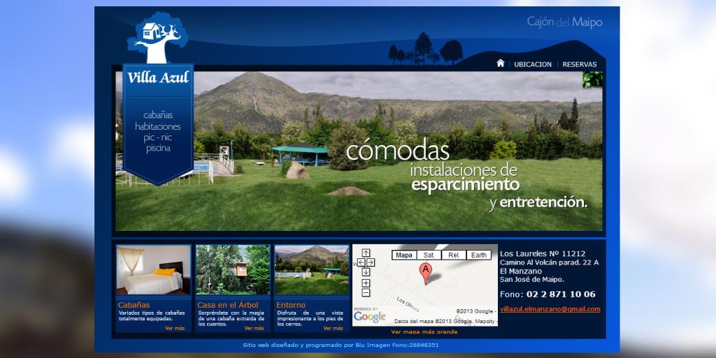 Villa Azul ( Cabañas)